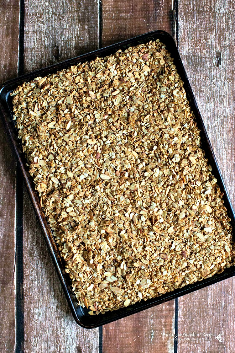 Baked Homemade Granola in Baking Tray