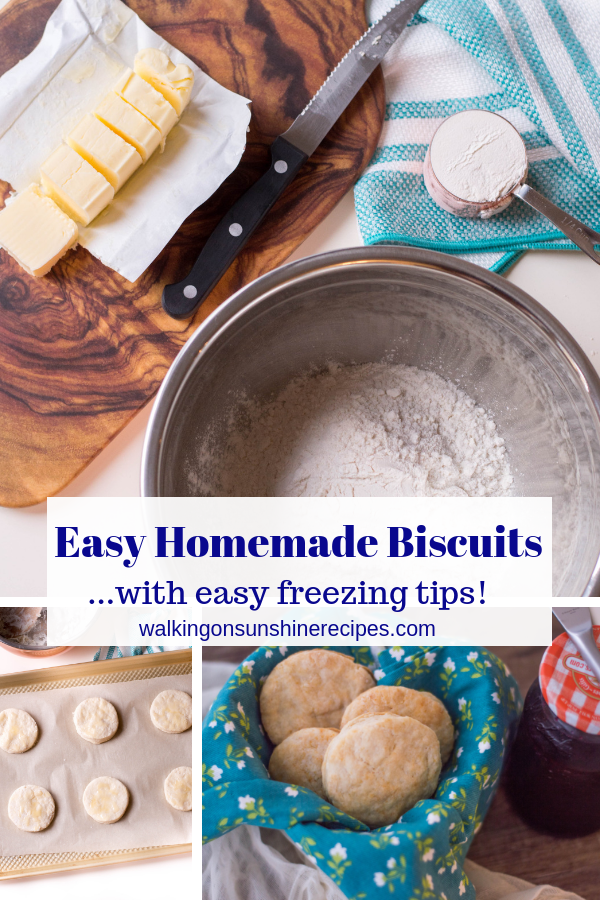 Easy Homemade Biscuits are made from scratch and can be on your table in under 20 minutes! Best served warm from the oven with butter or jam.