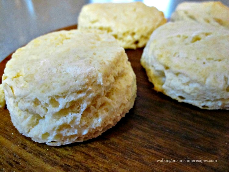 Homemade Biscuits on cutting board.