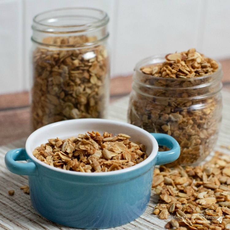 Homemade Granola with Peanut Butter from WOS
