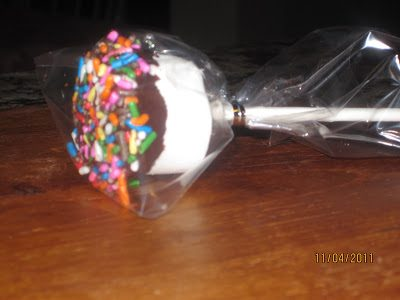 Chocolate Dipped Marshmallows…