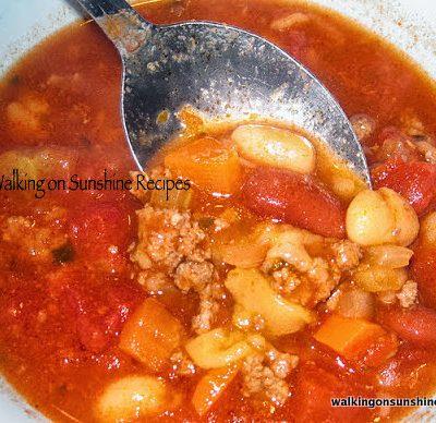 Pasta Fagioli Soup…EASY!