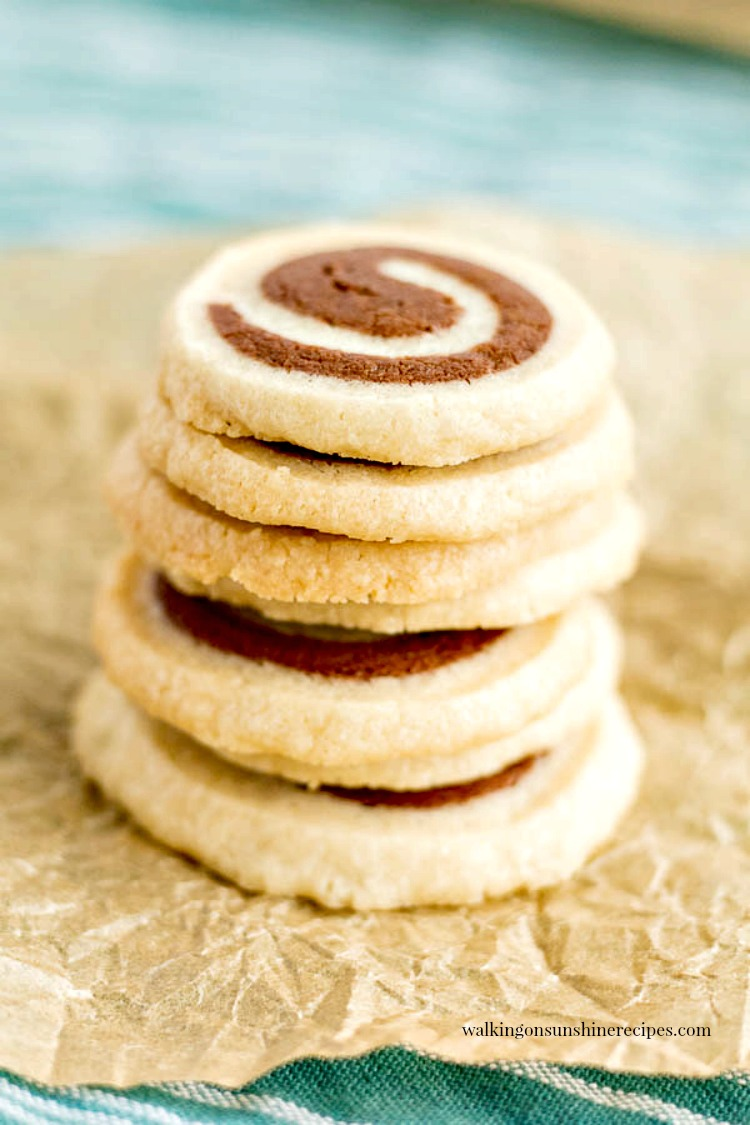 Vanilla and Chocolate Swirl Cookies are a fun pinwheel cookie that your family and friends are going to love. Easy to make and delicious too!