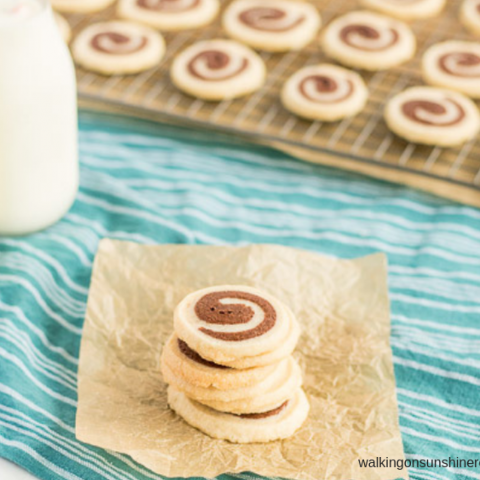 Vanilla and Chocolate Swirl Cookies