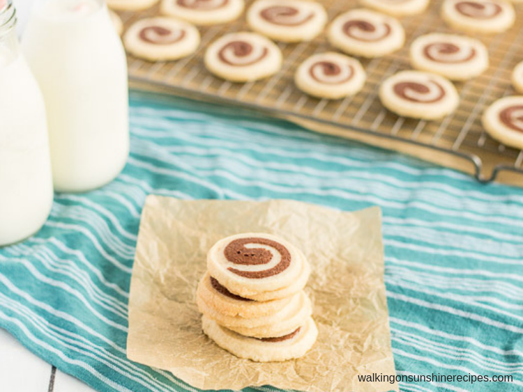 Day #5 - Vanilla Chocolate Swirl Cookies