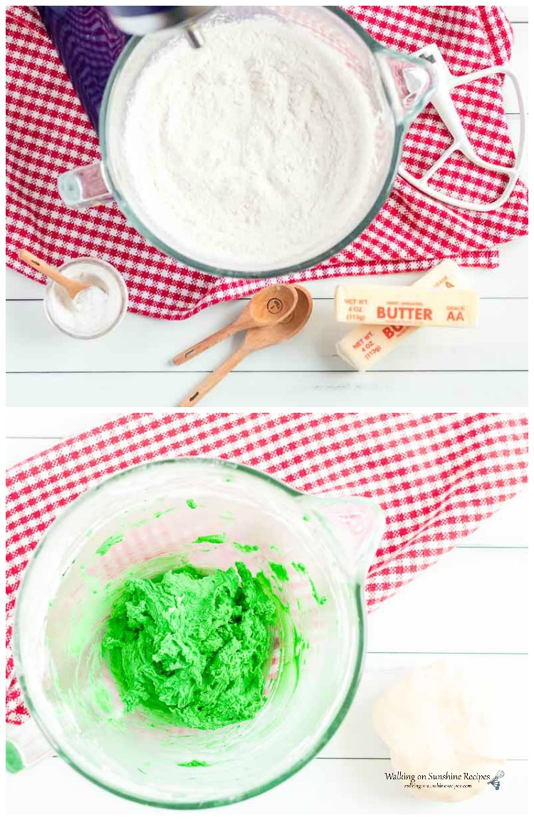 Dough for Easy Slice and Bake Colorful Cookies