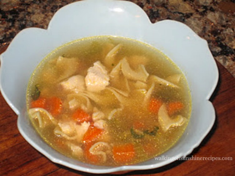 Homemade Chicken Soup 2011 photo in blue bowl.