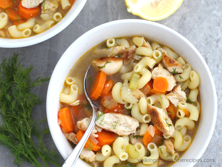 Chicken Soup - homemade, easy, delicious from Walking on Sunshine Recipes