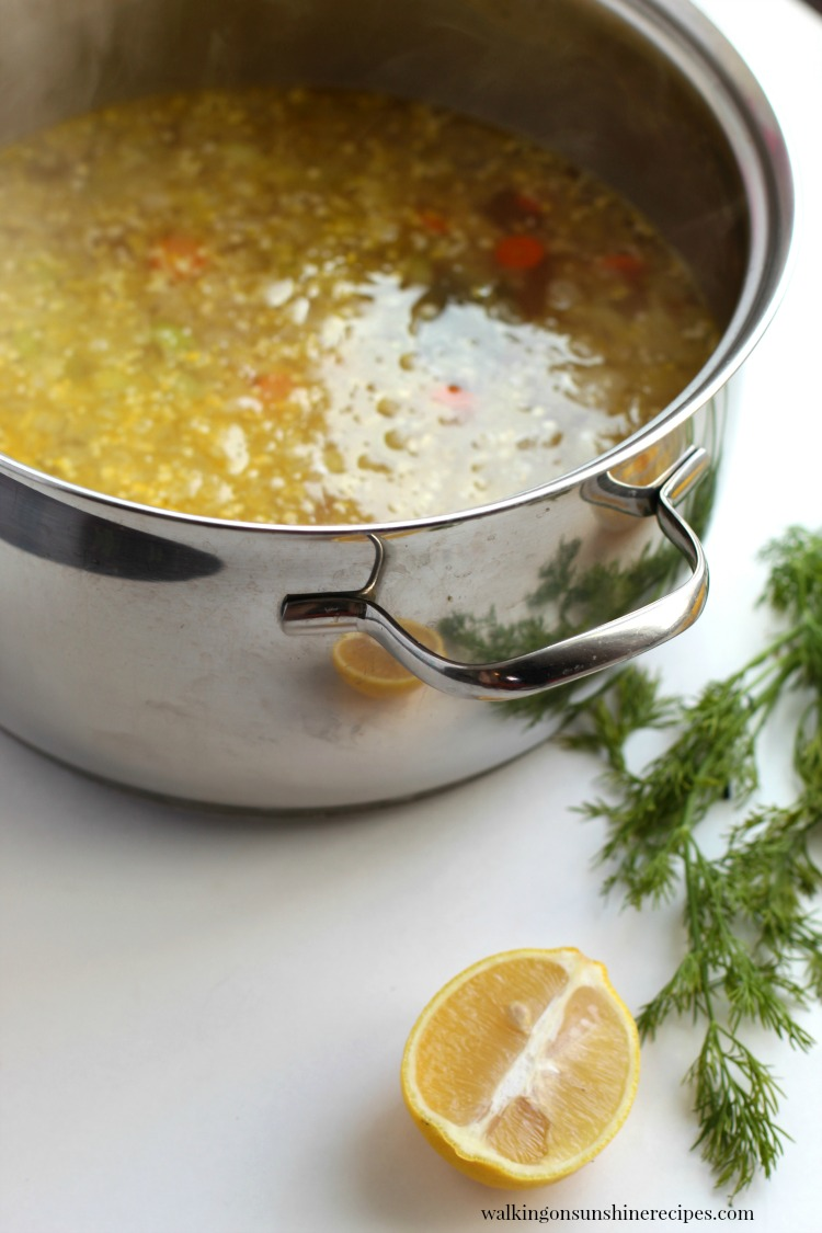 Chicken Soup in large stock pot