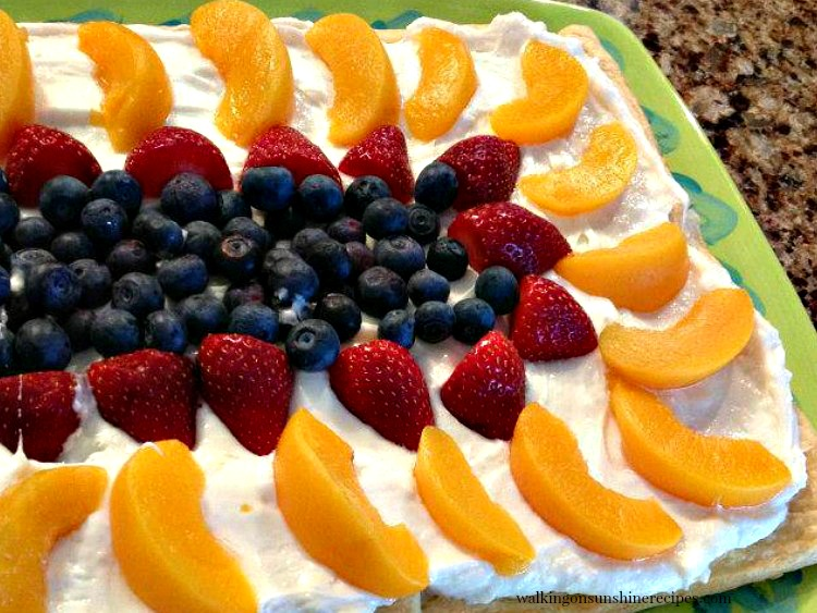 Crescent Rolls Fruit Tart.