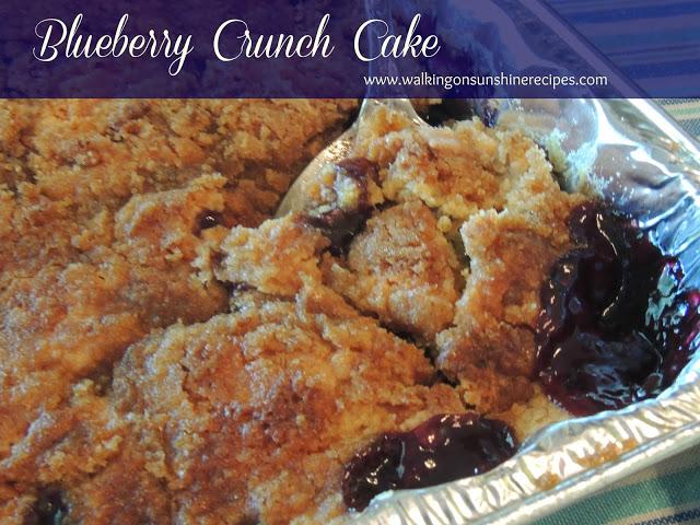 Blueberry Crunch Cake from Walking on Sunshine Recipes