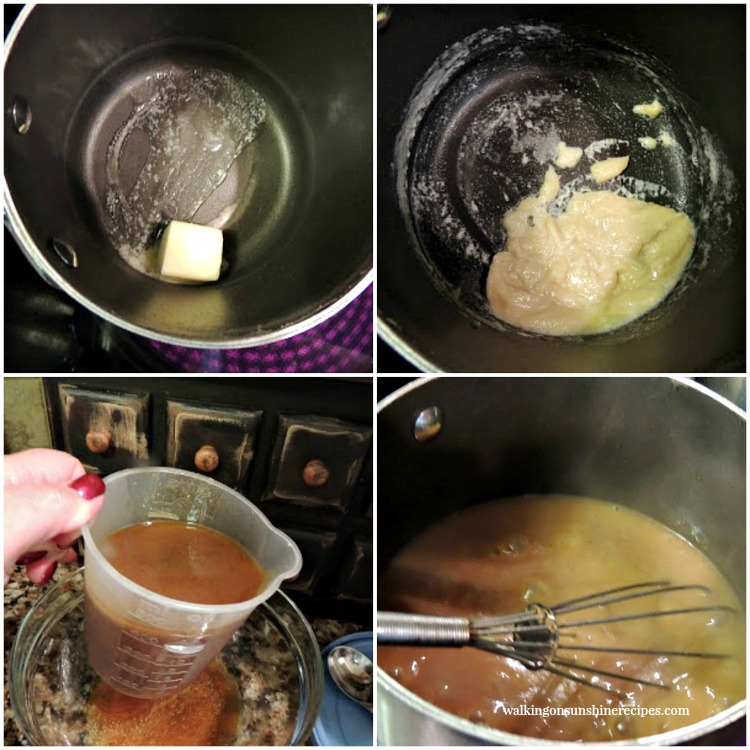 Step by Step photos for homemade gravy.