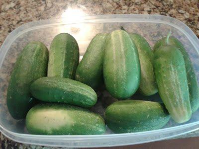 Cucumbers…