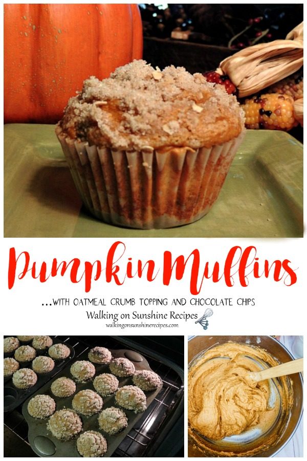 Pumpkin Muffins from a cake mix and baking in oven.