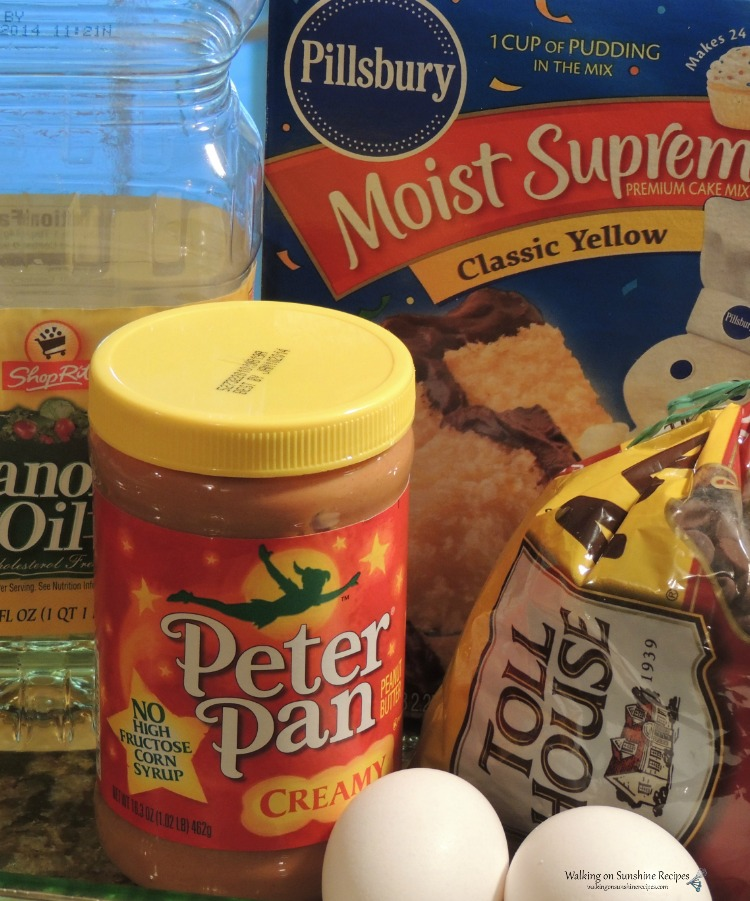 Ingredients for Bar Cookies.