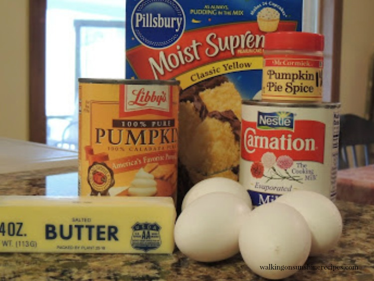 Ingredients for Pumpkin Crunch Cake