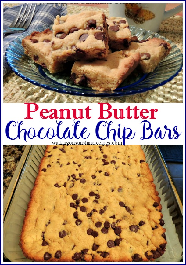 These peanut butter chocolate chip bars.