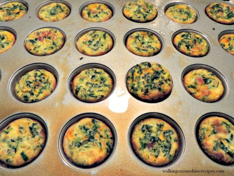 Mini Quiche baked from Walking on Sunshine