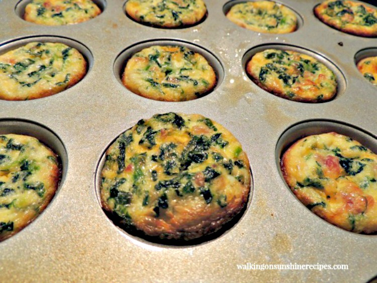 Mini Quiche closeup baked from Walking on Sunshine.
