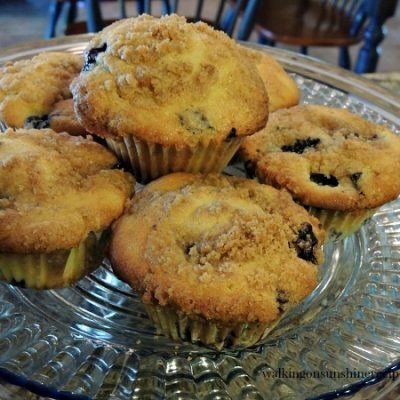 Blueberry Muffins with Crumb Topping and Easy Freezing Tips