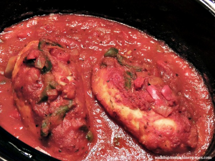 Chicken Cacciatore recipe that cooks in your slow cooker.