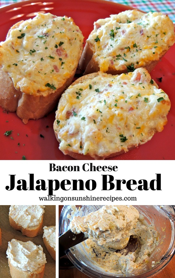 Let's take garlic bread to another level of deliciousness with this easy recipe for Cheesy Jalapeno Bacon Garlic Bread from Walking on Sunshine Recipes.
