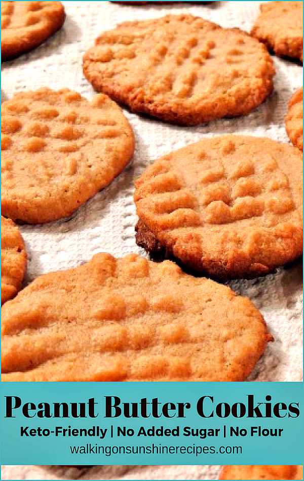 No flour No Sugar Peanut Butter Cookies from Walking on Sunshine Recipes