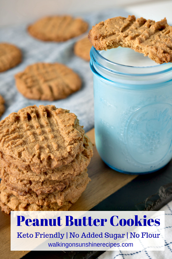 low sugar desserts like these peanut butter cookies are easy to make.