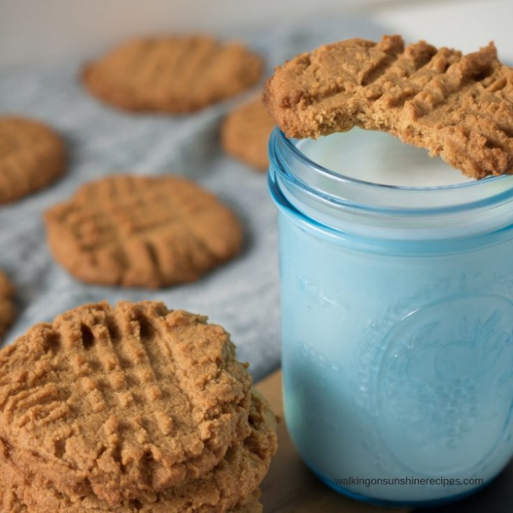 Sugarless and Flourless Peanut Butter Cookies