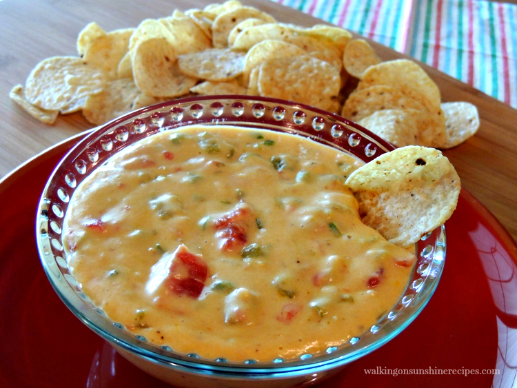 Homemade Queso Dip FEATURED photo from Walking on Sunshine Recipes