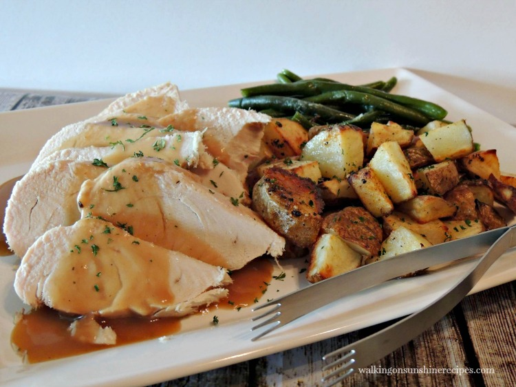 Turkey cooked in the Crock Pot from Walking on Sunshine Recipes