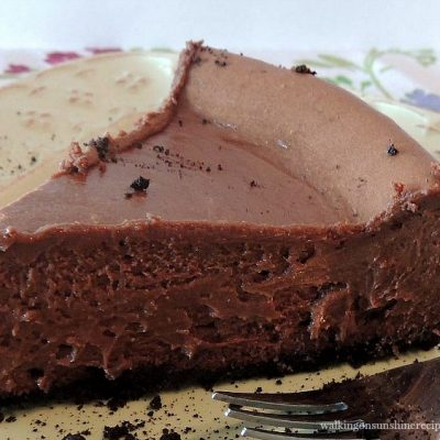 Chocolate Cheesecake FEATURED photo from Walking on Sunshine Recipes