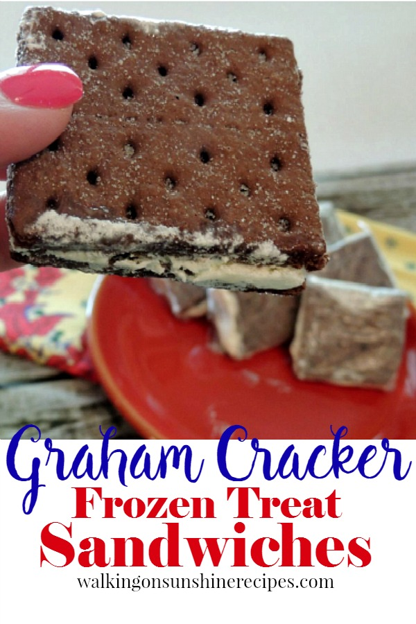 Cool Whip Graham Cracker Frozen Sandwiches from Walking on Sunshine Recipes short promo