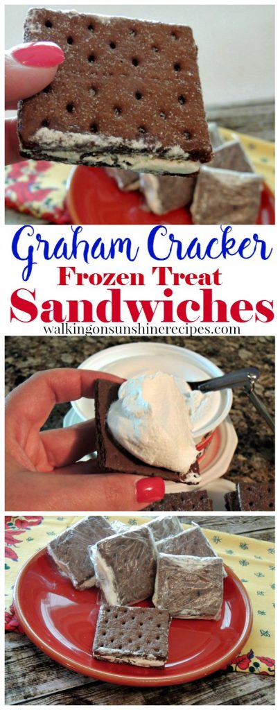A yummy treat for the summer are these Cool Whip graham cracker frozen sandwiches from Walking on Sunshine Recipes.