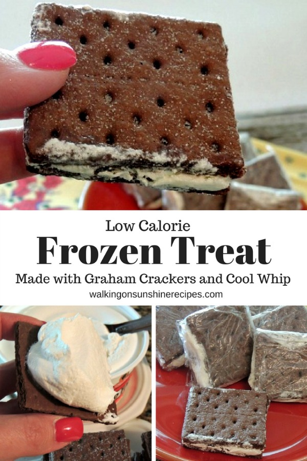 Frozen Treat Graham Cracker Sandwiches made with Cool Whip from Walking on Sunshine Recipes