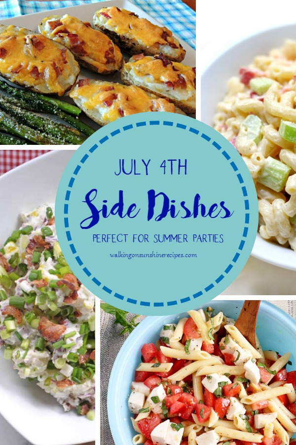 side dish menu ideas for July 4th parties.