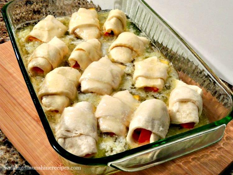 Peach Dumplings before baking in oven.