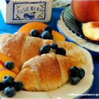 Peach Dumplings with Crescent Rolls