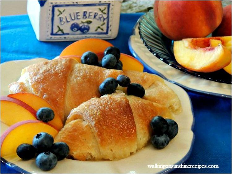 Peach Dumplings from Walking on Sunshine Recipes plated