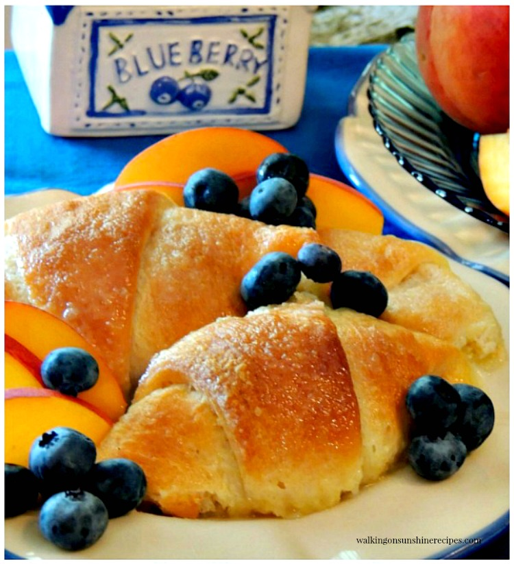 Peach Dumplings made with Crescent Rolls from Walking on Sunshine Recipes with blueberries