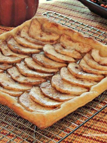 Apple Tart 4 on Baking Tray from Walking on Sunshine Recipes