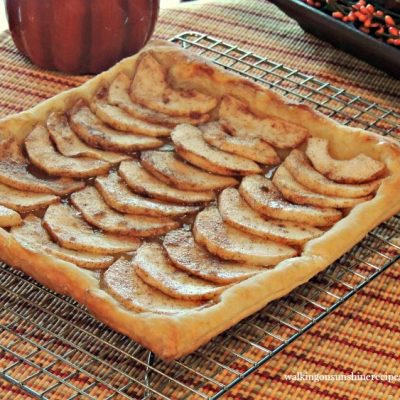 Apple Tart 4 on Baking Tray from Walking on Sunshine Recipes