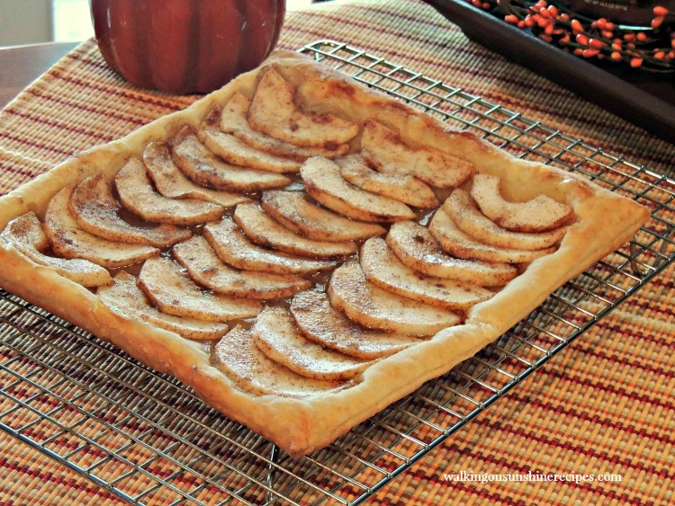 Apple Tart on Cooling Rack from Walking on Sunshine Recipes