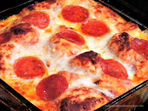 Bubble Pizza Casserole With Pillsbury Grands Biscuits