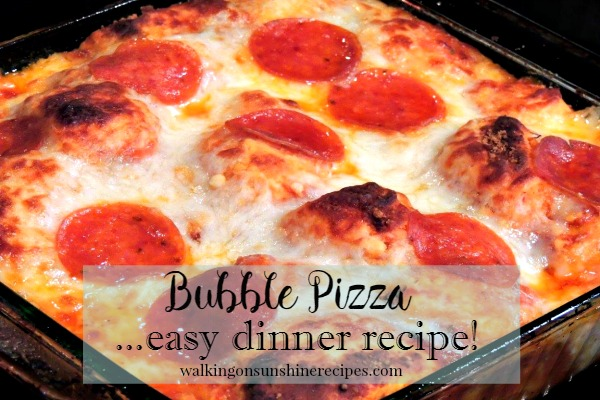Bubble Pizza with Pillsbury Grands Biscuits - Walking on Sunshine Recipes.