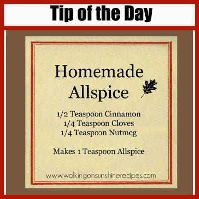 Homemade Allspice Recipe