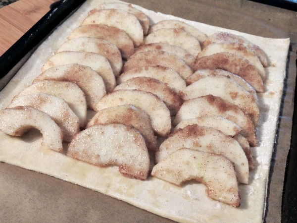 Puff Pastry Apple Tart before baking from Walking on Sunshine Recipes