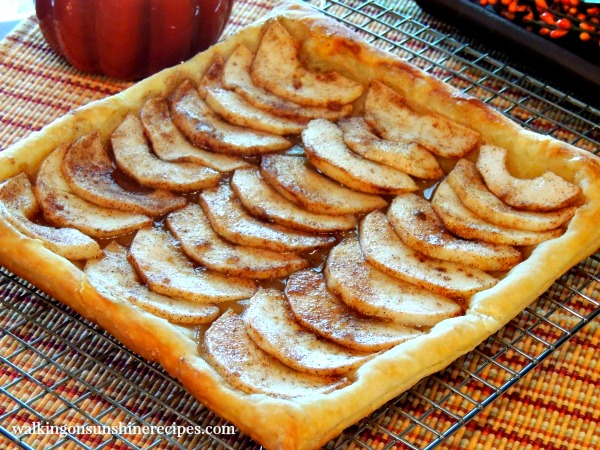 Puff Pastry Apple Tart from Walking on Sunshine Recipes