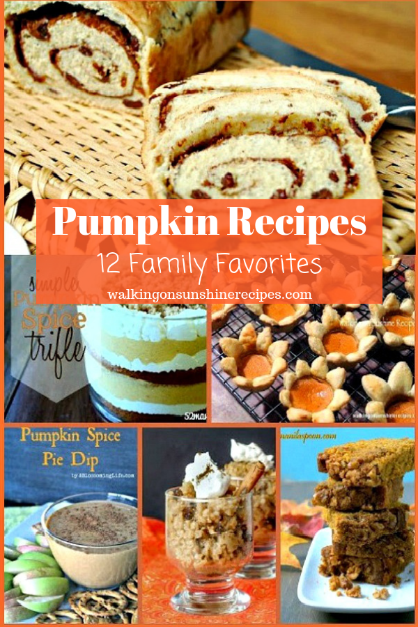 12 Favorite Pumpkin Recipes