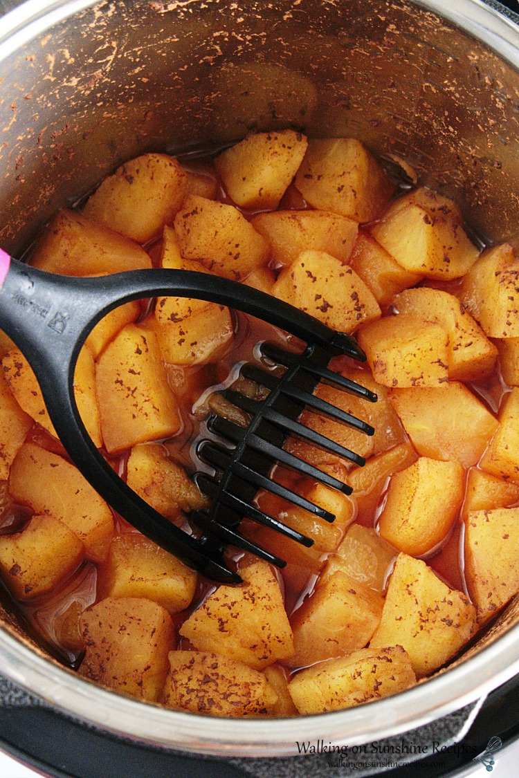 Apples cooked in Instant Pot